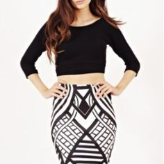 f488482aa7936d Aztec Stripe Print Pencil Skirt - Stylewise Direct is one of the leading  Suppliers of Wholesale Women s Fashion wear online in UK.