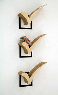 36 Simple Bookshelf for Your Modern Home Decor - Bücherregal Dekor Simple Bookshelf, Creative Bookshelves, Bookshelf Ideas, Shelving Ideas, Crate Bookshelf, Bookshelf Plans, Bookcase, Diy Bookshelf Design, Bookshelf Decorating