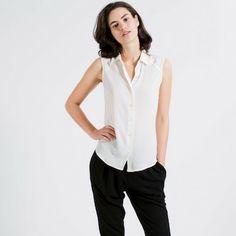Basics shop  The Silk Sleeveless - White
