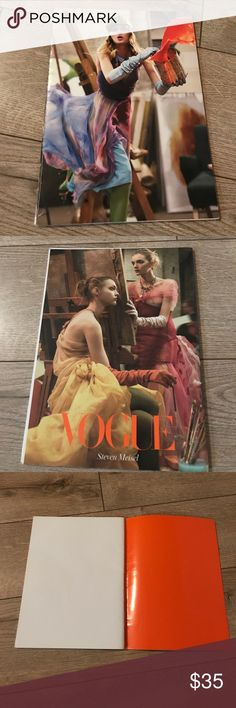 "VOGUE PLAIN JOURNAL RARE 30 pages Vogue Italia: Steven Meisel, a photographer who is capable, perhaps more than any other, of subverting rules and overturning conventions, showing how fashion iconography can be used as a vehicle for content.This is a blank journal it measures 10"" x 7 1/4"" vogue Accessories"