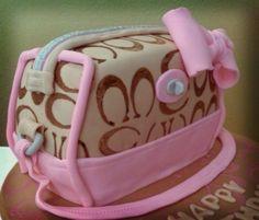 pink coach purse cake Coach Purse Cakes, Pink Coach Purses, High Heel Cakes, Shoe Cakes, Coach Bags Outlet, Cheap Coach Bags, Fun Cakes, Cupcake Cakes, Makeup Cakes