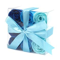 Incredible! New 1x Set of 9 Soap ... now in stock! http://moondials-madness.myshopify.com/products/1x-set-of-9-soap-flowers-blue-wedding-roses?utm_campaign=social_autopilot&utm_source=pin&utm_medium=pin