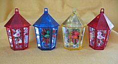 Jewel Brite Plastic Birdcage Ornaments with Bird Insert