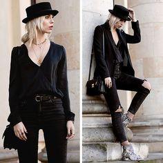 Get this look: http://lb.nu/look/8073376  More looks by Masha Sedgwick: http://lb.nu/masha_sedgwick  Items in this look:  Gauchere Blazer, Saint Laurent Bag   #artistic #edgy #grunge