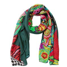 Desigual Women s Mixto Crazy Woven Rectangular Foulard Scarf ( 49) ❤ liked  on Polyvore featuring fc663cac5be