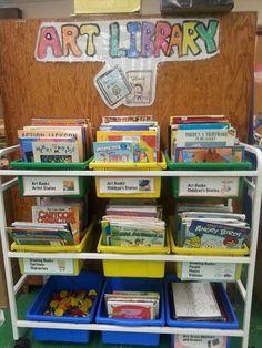 Tales from the Traveling Art Teacher!: An Art Room Library: Artist-Based Fictional Stories Art Books For Kids, Art For Kids, Art Room Doors, Classe D'art, Art Story, Story Books, Art Classroom, Classroom Organization, Classroom Management