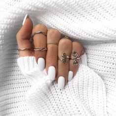 Love love LOVE... boho chic / hippie / gypsy style silver midi ring set. Check out our fantastic selection of boho jewelry at www.bohocandy.com
