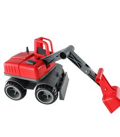 Sandpit Excavator Red From Ludius from The Wooden Toybox Wooden Toy Boxes, Wooden Toys, Sand Pit, Lawn Mower, Outdoor Power Equipment, Proposal, Red, Cake, Wooden Toy Plans