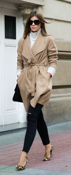 #fall #fashion / camel coat