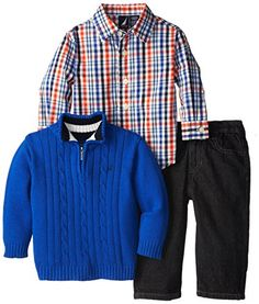 Nautica Baby-Boys Infant 3 Piece Woven Sweater Denim Set, Cobalt, 12 Months Nautica http://smile.amazon.com/dp/B00KEZYJMQ/ref=cm_sw_r_pi_dp_.cJwub1A2ZNPE