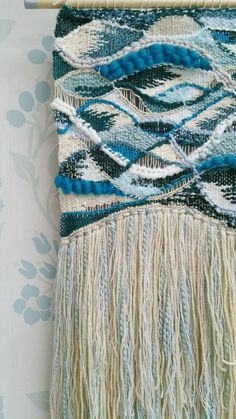 Ocean Blue // Woven Wall Art - Fibre Art - Wall Hanging - Weaving - Wall Decor