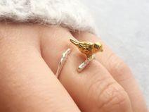 Sweet Bird On Branch Little Girls Ring Little Girl Rings, Rings For Girls, Branch Ring, Bird On Branch, Shops, Little Gifts, Gold Rings, Jewellery Diy, Jewelry