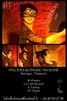 Ateliers de danse ancienne, de mars à juin 2017 à Cluny.