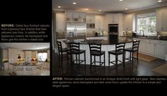 Creative Cabinets andFaux Finishes, LLC (CCFF) - Before and After Faux Refinishing Picture Gallery