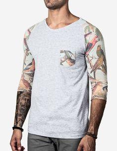 T-SHIRT 3/4 TROPICAL Tomboy, Tropical, Tees, Long Sleeve, Sleeves, Clothing, Mens Tops, T Shirt, Fashion