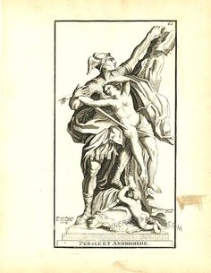 Antique print: picture of Perseus and Andromeda - Persee et Andromede