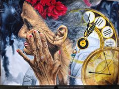 Watercolor Painting-Clock