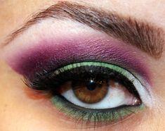 ( She-Hulk Inspirated ) Deep Purple and Green #Makeup