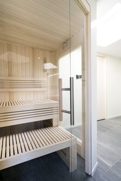 Enjoy the beautiful woods of your Cleopatra sauna with glass panels