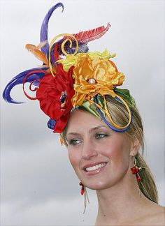 567842b3e22 channeling Carmen Miranda or a pirate s parrot -- Kentucky Derby Craziest  racing hats ever - NY Daily News