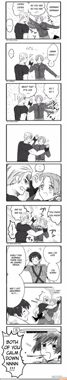 lol does not explain how funny i thought Germany's face was at the end X3 P.S. Germany and Italy both liked it XP