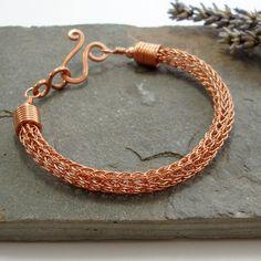 Viking knit bracelet - Copper wire