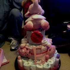 Kelly and I made our first diaper cake!!!!