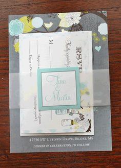 Rustic Mason Jar Tree Wedding Invitation Set  by PartyPopInvites, $3.00