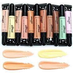 POPFEEL 11 Colors High Definition Concealer Cream Tube Makeup Comestic Facial Light Dark Cute