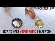 HOW TO MAKE AARI WORK AND ZARI WORK - PATCH WORK # PART 09 @ MAGGAM WORK - YouTube