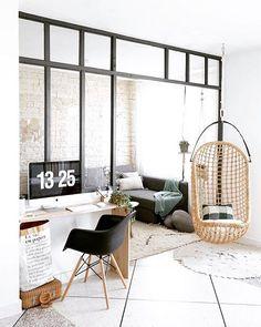 Balanço na sala?! #decor #inspiração #designdeinteriores #inspiration #sala #balanço