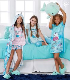 Power down and snuggle up with magical narwhals. Kids Outfits, Summer Outfits, Cute Outfits, Tween Fashion, Girl Fashion, Tween Mode, Cosy Outfit, Cute Pjs, Baby Doll Accessories