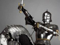 Wallace Collection Chainmail Armor, Fighting Poses, Exhibition Display, Arm Armor, Medieval Armor, 15th Century, Heavy Metal, Equestrian, Renaissance