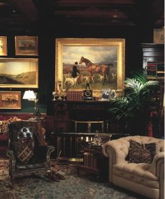 Image detail for -Ralph Lauren/Naomi Leff: Rhinelander Mansion English Country Manor, English House, English Style, English Library, French Style, French Country, Equestrian Decor, Equestrian Style, Interior And Exterior