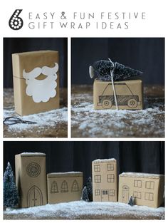 6 brilliant and easy Christmas gift-wrap ideas with brown paper | Growing Spaces
