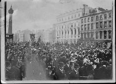 anniversary on the 1798 Rising, O'Connell St. Dublin Street, Dublin City, Old Pictures, Old Photos, Vintage Photos, Irish Independence, City Council, Dublin Ireland, Historical Photos