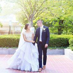 modest wedding dress full skirt and a beaded bodice from alta moda.