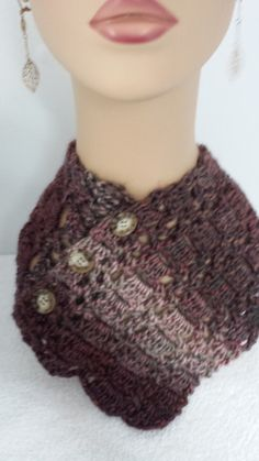 Button Up Neck Warmer by softtotouch on Etsy, $22.00 good gift idea!