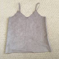 Cream Grey suede olive clothing vintage strapless top vest strappy it perfect condition. Smart Small size 8 10 RRP £35 ignore vintage dior Gucci Versace v neck festival