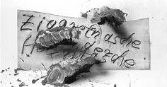 Zettel mit Schriftzug