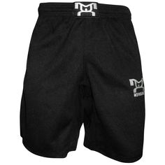 MyHOUSE Black Mesh Shorts are solid black with a comfortable thick mesh fabric with black spandex crotch panel.