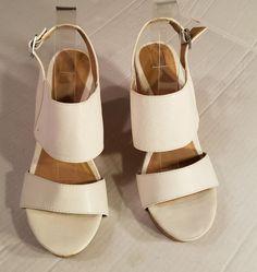 199f1c83373c Kohls APT 9 Shoes sz 8M AP BENSEN White Fashion Peep Toe Wedges Shoes #APT9