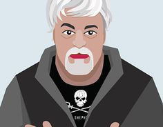 """Check out new work on my @Behance portfolio: """"Captain Paul Watson portrait"""" http://be.net/gallery/41222593/Captain-Paul-Watson-portrait"""