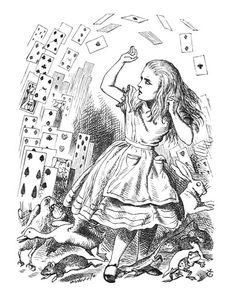 John Tenniel.  Alice in wonderland illustrations