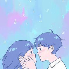 Cute Couple Drawings, Cute Drawings, Animes Wallpapers, Cute Wallpapers, Aesthetic Anime, Aesthetic Art, Cute Illustration, Character Illustration, Film Manga