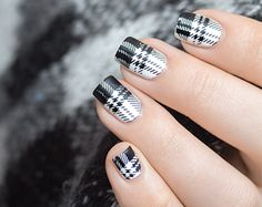 Black and White Winter Nails