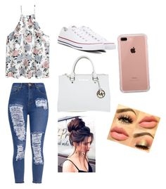 """Untitled #8"" by danielis-rivera on Polyvore featuring Converse, Michael Kors and Belkin"