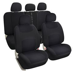 Leader Accessories Auto Solid Black Cloth Seat Covers Set  Airbag Compatible  Front Low Back Buckets * Click on the image for additional details.Note:It is affiliate link to Amazon. #unitedstates