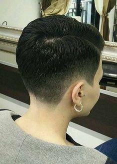 selecting-your-perfect-pixie-haircut - Fab New Hairstyle 2 Short Dark Hair, Very Short Hair, Short Hair Cuts For Women, Short Hair Styles, Girls Short Haircuts, Short Hairstyles For Women, Hairstyles Haircuts, Crop Haircut, Pixie Haircut