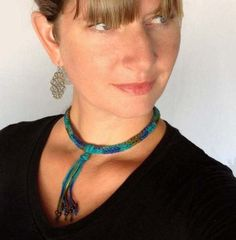 Free Pattern, How To Make A Fringed Crochet Choker Necklace